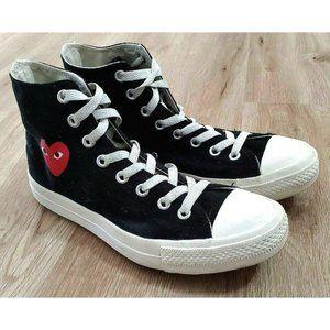 Converse Womens Comme Des Garcons Black Sneakers 9